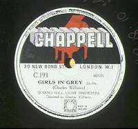 label of Chappell disc C193 (8K)