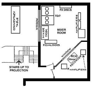 plan of mixer and recording room (14K)