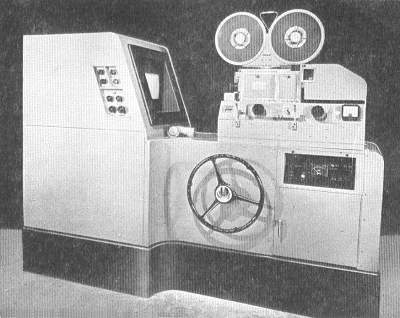 A Suppressed Frame Telerecording Machine: The equipment comprises a high quality television picture monitor and a standard 35 mm cine camera which has been modified to record vision and sound on the same film (21K)